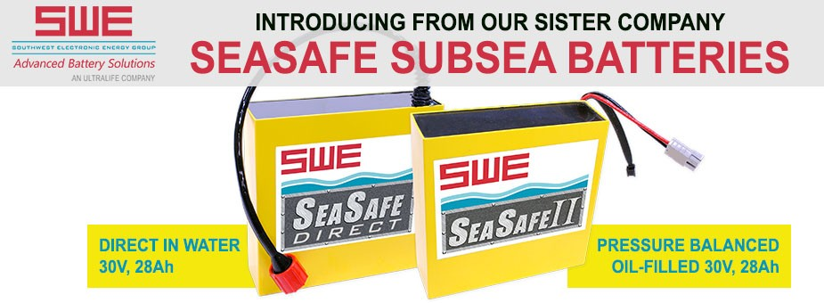 SWE SeaSafe Batteries for Subsea